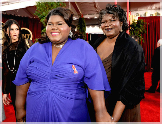 Photo of Gabourey Sidibe & her Mother  Alice Tan Ridley